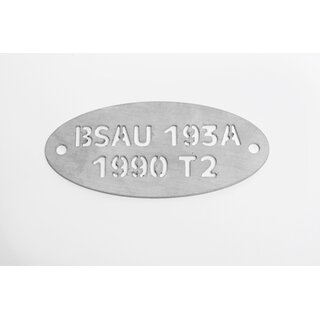 Plate for exhaust BSAU 193A 1990T2